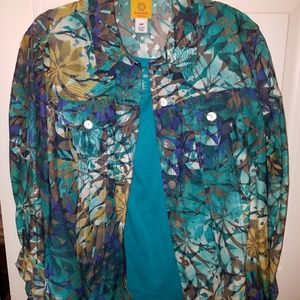 Ruby Rd blouse and shell top EUC